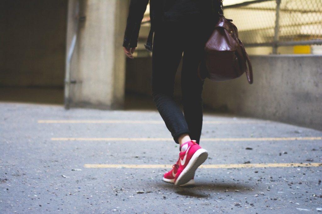 person, walking, city